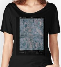 USGS TOPO Map Iowa IA Creston East 20100513 TM Inverted Women's Relaxed Fit T-Shirt