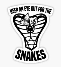 Keep An Eye Out For The Snakes Sticker