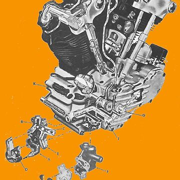 (replica) Harley Davidson Knucklehead engine...T-shirt etc... by timothybeighton
