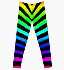 Neon Rainbow Zebra Animal Print Leggings