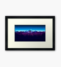 Firewatch Nighttime Art Design - 4k Framed Print