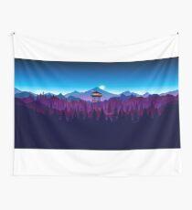 Feueruhr Nighttime Art Design - 4k Wandbehang