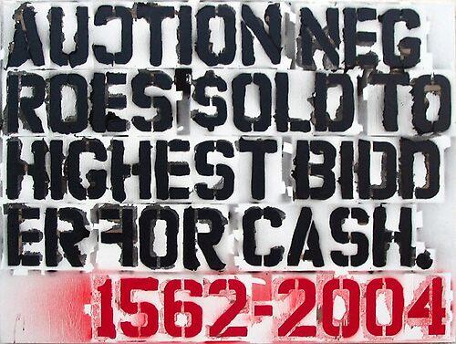 Slave Auction Sign: Untitled by MalikAlex