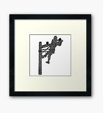 Lineman Framed Print