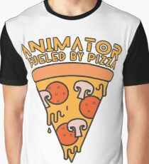 Animator Fueled By Pizza Funny T-Shirt Graphic T-Shirt