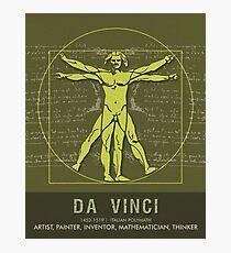 Science Posters - Leonardo Da Vinci - Artist, Inventor, Mathematician Photographic Print