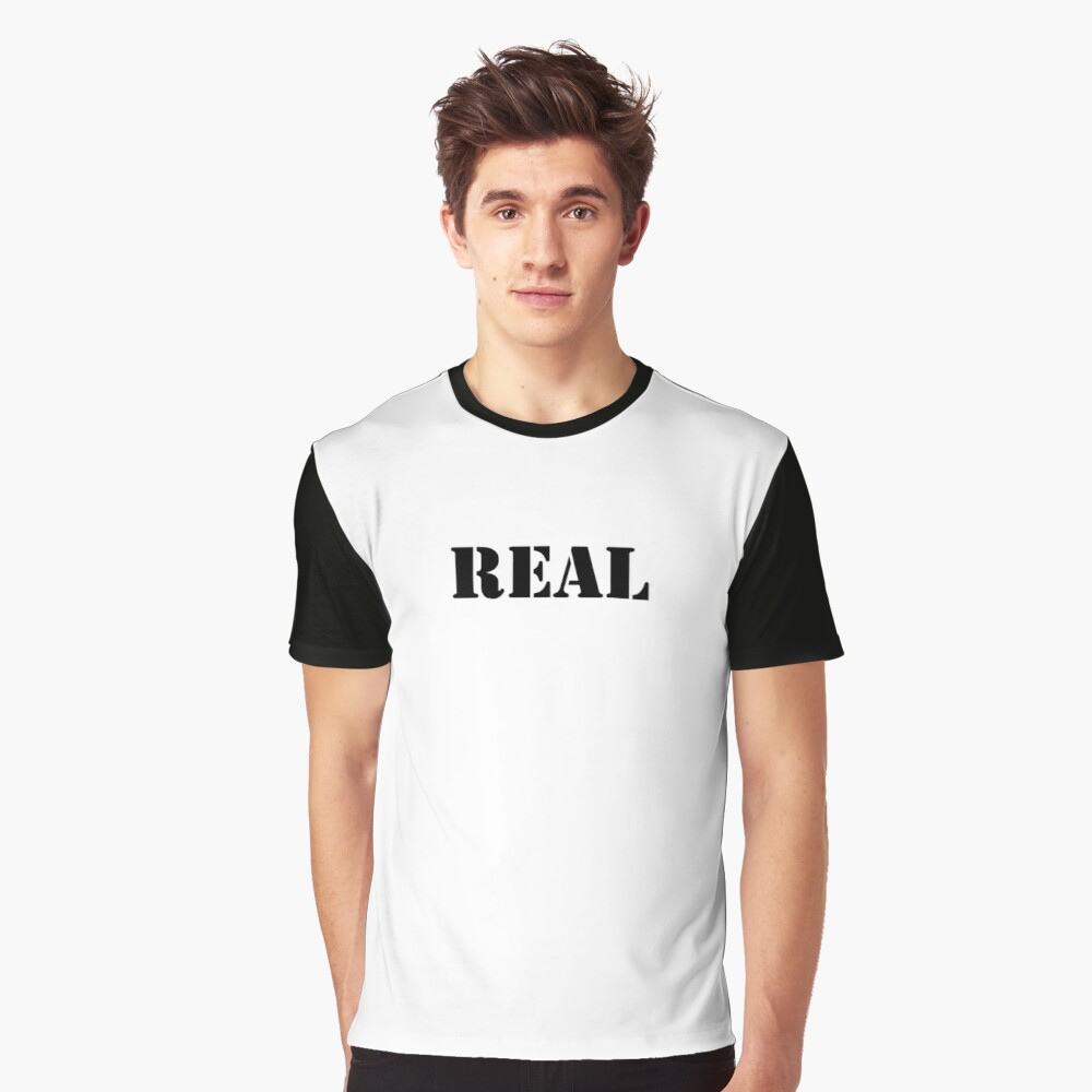 Real (Breasts) Graphic T-Shirt Front