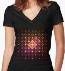 Lights Women's Fitted V-Neck T-Shirt