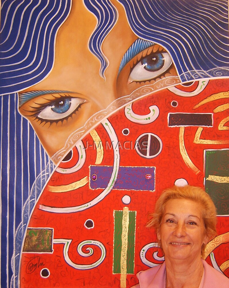 my mother and my canvas by J-M MACIAS