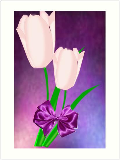 2 Pink Tulips (9016 Views) by aldona