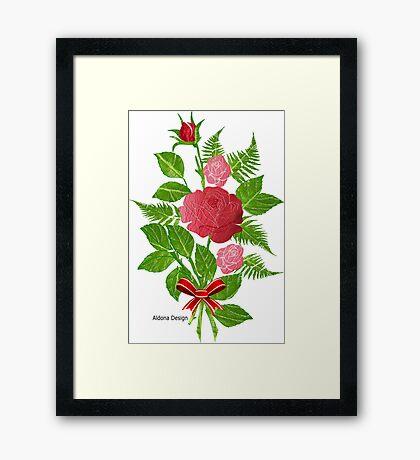 Roses & Ferns   (1478 Views) Framed Print