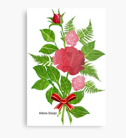 Roses & Ferns   (1504 Views) Metal Print