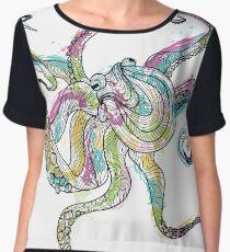 Ink Blot Octopus Women's Chiffon Top