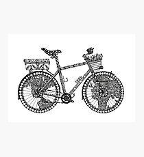 World Tour Bike Photographic Print