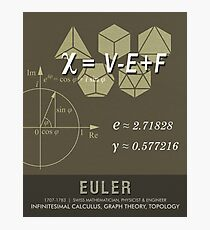 Science Posters - Leonhard Euler - Mathematician, Physicist, Engineer Photographic Print