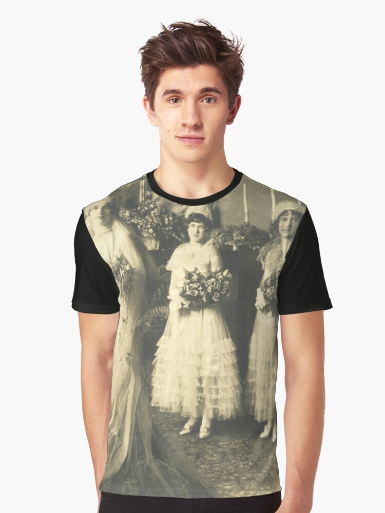 1920s French Art Deco Couture Wedding Gown Dresses Graphic T Shirt By Mr Artdeco