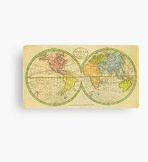 Vintage World Map 1798 Canvas Print