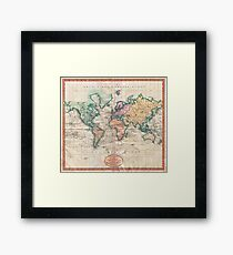 Vintage World Map 1801 Framed Print