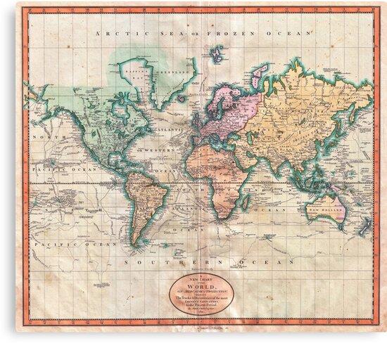 Vintage World Map 1801\