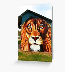 Lion's Head Greeting Card