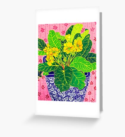 Pretty Primulas Greeting Card