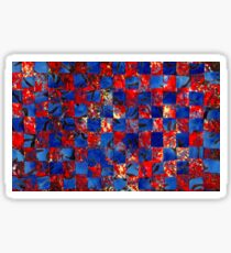 Red and Blue Weaving 1 Sticker