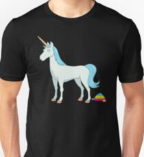 Cute Magical Unicorn Poop with Rainbow Tail Unisex T-Shirt