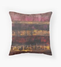 Old tapestry Throw Pillow