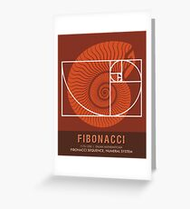 Science Posters - Fibonacci - Mathematician Greeting Card
