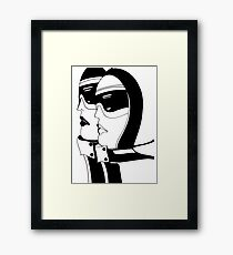 SKI,1966 by Jacqueline Mcculloch , House of Harlequin Framed Print