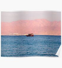 Blue Red sea Poster