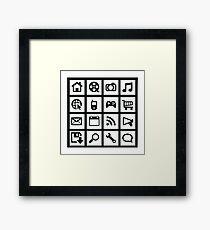 Web icon graphics Framed Print