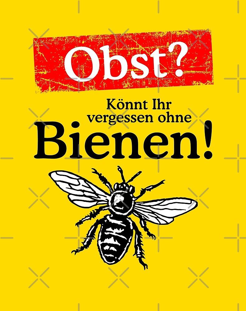 Kein Obst ohne Bienen - Kampagne gegen das Bienensterben von theshirtshops
