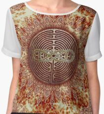 Chartres Double Infinity Antique Mandala Chiffon Top