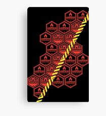 Alert: Spontaneously Combustible Canvas Print