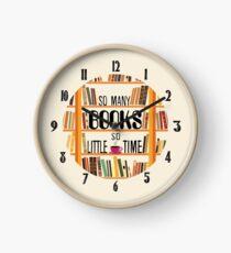 Book Nerd Clock Clock