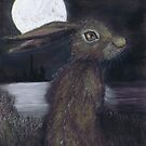 MOONLIGHT HARE by Hares & Critters