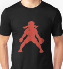Baseball Girl Player Retro Abstract Unisex T-Shirt