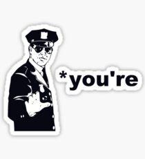You're Your Grammar Police Sticker