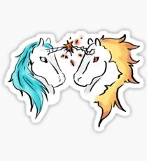 Ice and fire Sticker