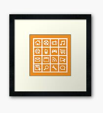 Web icon graphics (orange) Framed Print