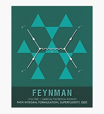Science Posters - Richard Feynman - Theoretical Physicist Photographic Print