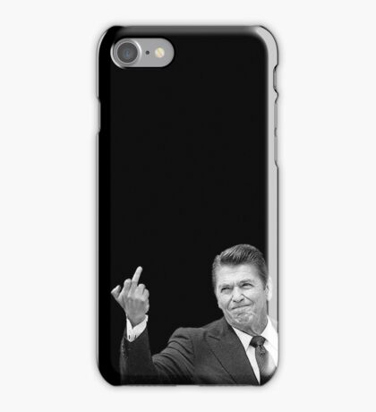 Ronald Reagan Flipping The Bird  iPhone Case/Skin