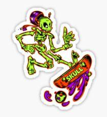 Skateboard T-Shirt Skeleton Skull Skateboarding Tee Sticker