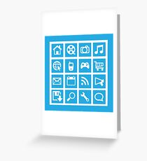 Web icon graphics (blue) Greeting Card