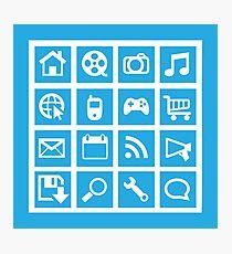 Web icon graphics (blue) Photographic Print