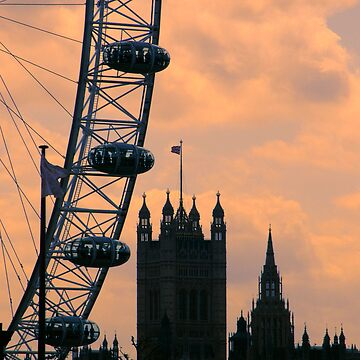 Westminster and London Eye by shaunH