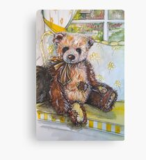 Rufus, Tatty Teddy Bear Canvas Print
