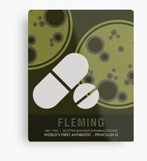 Wissenschaft Poster - Alexander Fleming - Biologe, Pharmakologe Metallbild