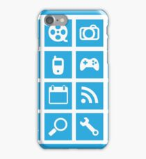 Web icon graphics (blue) iPhone Case/Skin